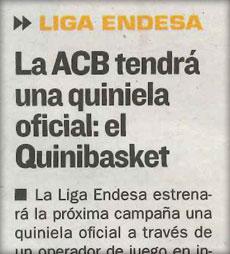 Quinibasket en el Diario AS