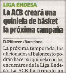 Quinibasket en el Diario Marca