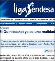 Quinibasket en ACB.com