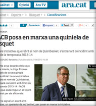 Quinibasket en Ara.cat
