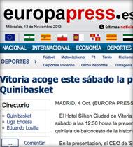 Quinibasket en Euroapress.es