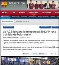 Quinibasket en FCBarcelona.es