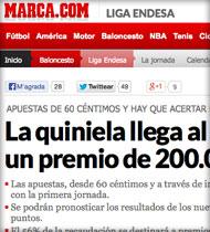 Quinibasket en Marca.com